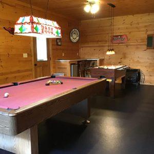 Hocking Hills Log Cabin Rentals Game Room