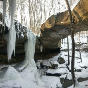 Rockbridge Waterfalls in Winter