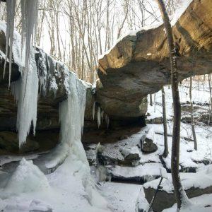 Rockbridge Waterfalls in Winter