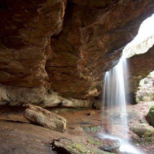 Natural Rockbridge and Waterfalls
