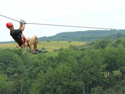 Zip Line in Hocking Hills